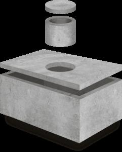 Szambo betonowe 10m3 standard 350 x 240 x 160