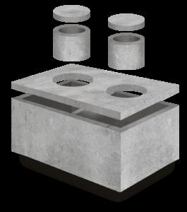 Szambo betonowe 6m3 250 x 200 x 160