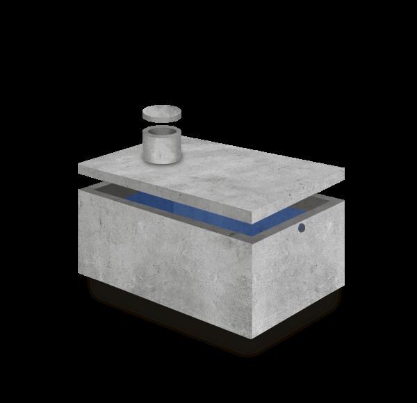 Zbiornik na wodę 4m3 250 x 200 x 110
